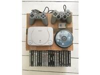 PS1 - 2x Controllers - 30 Games - Memory Card