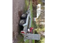 Indespention twin axle plant trailer galvanised