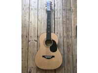 Guitar acoustic hohner with case - perfect starter instrument (approx 3/4 size)