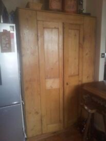 Antique Pine Large Pantry Cupboard