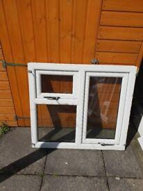 4 x upvc white double glazed windows