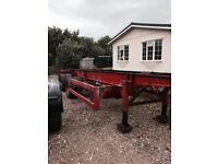 Artic trailer . 34ft rear steer .double axle