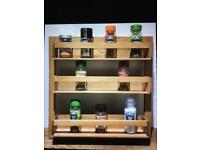 Solid Wooden Spice Rack Brand New Ideal Xmas Gifts