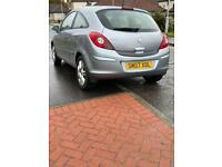 Vauxhall corsa 1.2 design silver 3 door hatchback 67000 miles