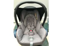 Maxi cosi cabriofix car seat with isofix base.