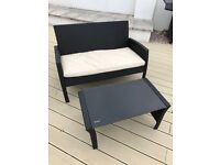 Patio seat and table
