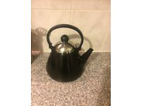 Black Stainless Stove Top Kettle