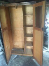 Oak veneered wardrobe