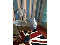 All included Blue Moses Basket