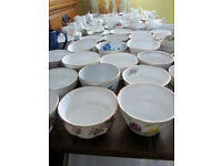100 Vintage jugs and sugar basins for Wedding, Christening, Tea Party, Birthday, Anniversary, Cafe.