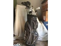 Dunlop Tour Elite Golf Bag with 14 clubs plus more