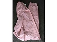 Dusky pink lined curtains with tie backs, fantastic condition