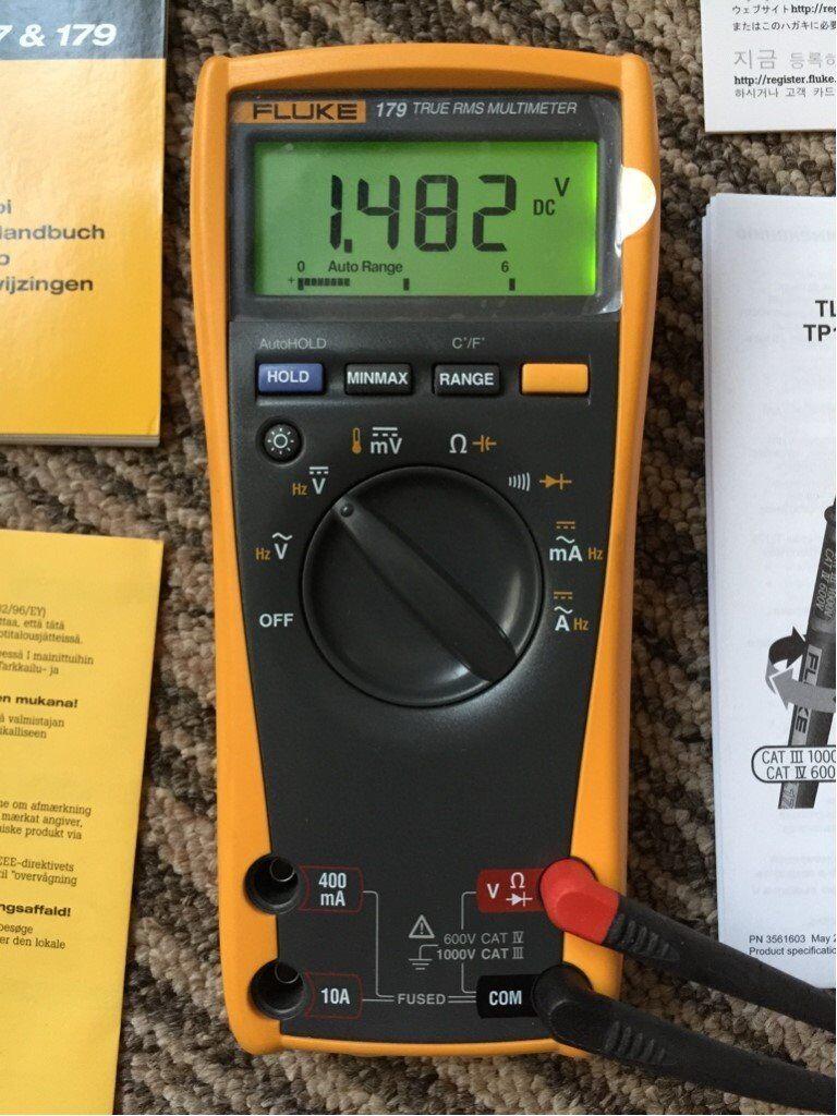 Fluke 179 True RMS Multimeter with Backlight & Temperature