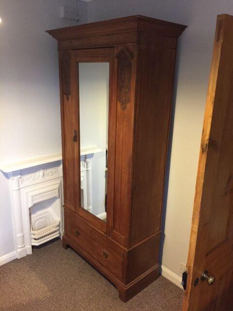 Antique Edwardian Wardrobe Armoire With Mirror In Hersham Surrey Gumtree