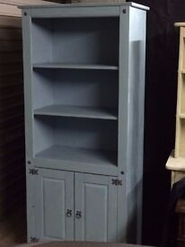 BARGAIN Solid Wood Chalk Painted Dresser Display Cabinet