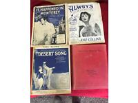 Vintage sheet music, approx 150 sheets