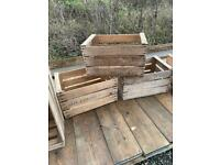 Vintage French Apple Crates