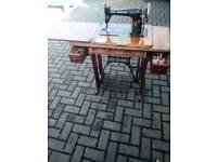 Vintage antique singer sewing table