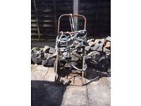 Oxy acetylene welding cutting bottle trolley