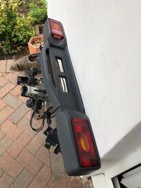 Twin bike car rack Tow bar fitting