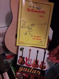 3/4 size guitar, electic keyboard and ukulele