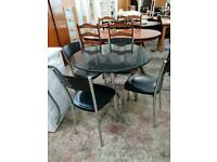 Dining table with x4 chairs delivery available