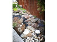 Rock for garden ponds