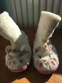 Monsoon girls slipper boots size 2-3