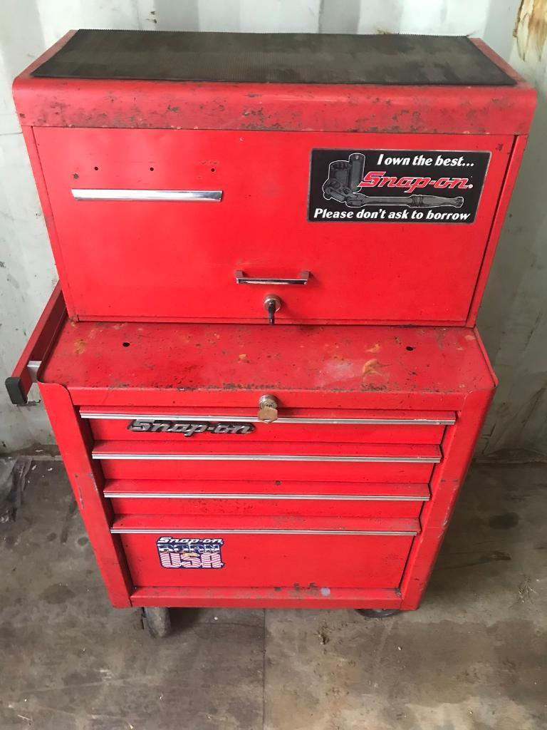 Snap On Tool Box And Roll Cab With Keys For Both In