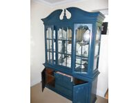 Painted french cupboard comes in two parts easier to move. Painted Farrow + Ball - Hague Blue