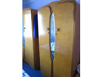 Bedroom Furniture/2 x Real Wood Wardrobes/Dressing Table/Mirrors