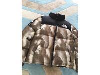 Supreme X North Face Fur print Nuptse Jacket