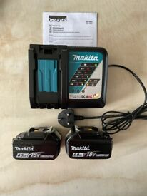 Makita Charger & 2 x 6 Ah 18V Batteries