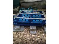 Blue pallets
