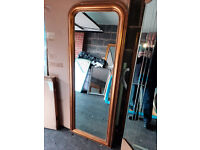 Ex Display Gold Full Length Beaded Leaner Mirror