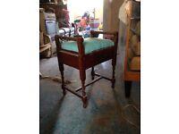 Old piano stool