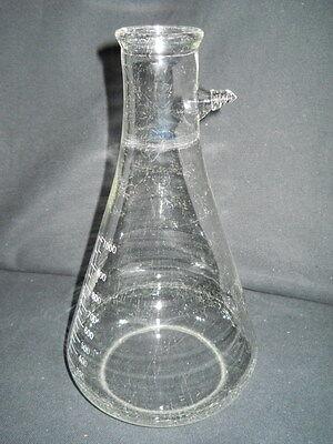 Kimble Kimax Glass 1000ml 1l Heavy Wall Graduated Filter Flask 27060 Damaged
