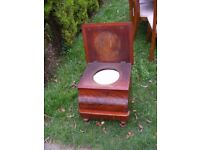 CAN DELIVER - BEAUTIFUL VERY RARE ANTIQUE COMMODE CHAIR