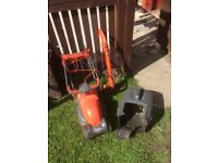 Electric lawnmower and strimmer