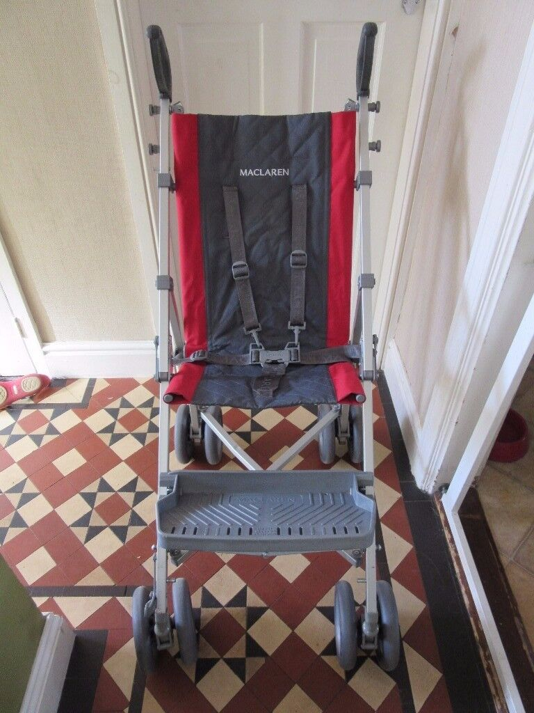 Maclaren Major Elite Pushchair with Foot Rest and Raincover