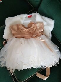 Christening - Party - Bridesmaid Dress with bolero for a 6 month old baby - EXCELLENT CONDTION