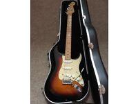 USA 2005 Fender Stratocaster, sunburst body and maple neck, original case, fantastic condition
