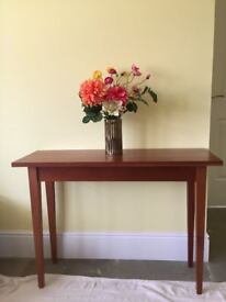 Console/Hall table in Mahogany