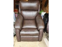 Brown leather electric chair for sale