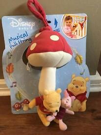 Disney Winnie the Pooh musical pull toy NEW