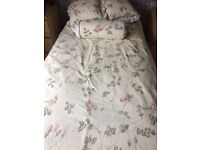 Bed Linen - double duvet cover, pillow cases and 3 cushions