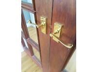 Solid mahagony internal french double doors for sale