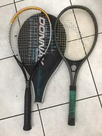 Tennis Racquets 2 adult Slazenger and Donnay.