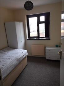Large single room to let. All bills included. Easy travel to all major towns & cities.