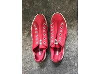 Red Converse All-Stars Size 8